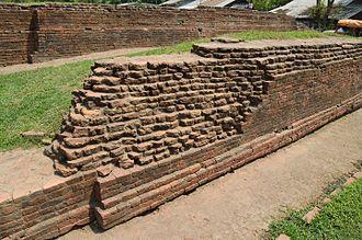 Chandraketugarh - Excavated Brick Structure of Khana-Mihir Mound, Chandraketugarh, Berachampa, North 24 parganas district.