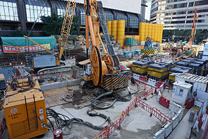Exhibition Station west construction site in February 2016.JPG