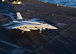 F-18E VFA-136 making last trap ever on USS Enterprise (CVN-65) 2012.jpg