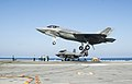 F-35C Lightning II of VFA-101 lands on USS George Washington (CVN-73) on 15 August 2016.JPG