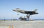 F-35C Lightning II of VFA-101 lands on USS George Washington (CVN-73) on 15 August 2016.JPG