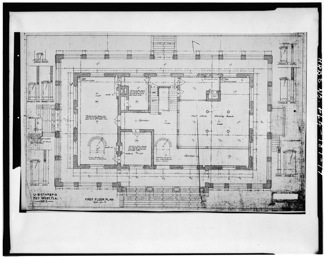 File First Floor Plan Key West Post Office U S Customs