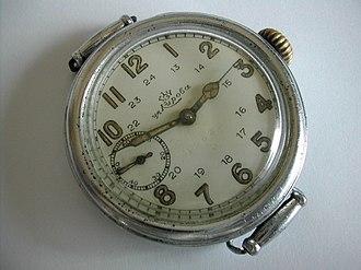 Poljot - 1930s' FSWF wristwatch with Dueber-Hampden designed movement
