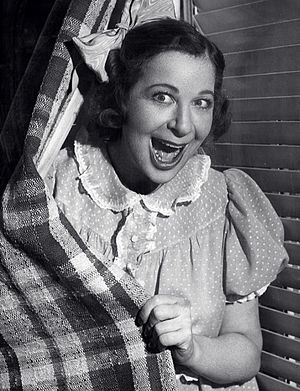 Fanny Brice - Fanny Brice in the role of Baby Snooks, 1940