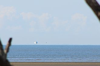 Fata Morgana (mirage) - A Fata Morgana seen from the coast of Queensland, Australia.