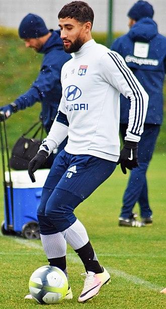 Nabil Fekir - Fekir in training with Lyon in 2017.
