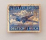 Feldpost von Hans 1943-03-19 Briefmarke Luftfeldpost Deutsches Reich Ju52.JPG