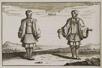 Milos - Women's dress in the early 18th century.
