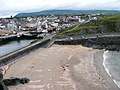 Fenella beach and Peel town from the castle walls - geograph.org.uk - 481793.jpg