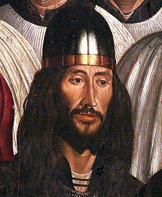 Ferdinand the Holy Prince - Detail from the St. Vincent Panels by Nuno Gonçalves, commonly believed to be a portrait of Ferdinand the Holy Prince.