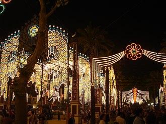 Feria de Jerez - Feria at night.