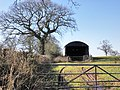Field barn, east of Marsh Green - geograph.org.uk - 1738119.jpg