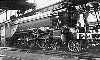 Finished locomotive, Pacific construction at Doncaster works (CJ Allen, Steel Highway, 1928).jpg