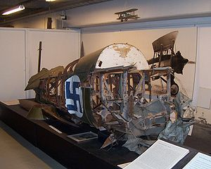 Gloster Gamecock - Fuselage wreck at Finnish Aviation Museum
