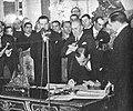 Firma del Tratado de Paz, Amistad y Límites entre Bolivia y Paraguay - Luis Alberto Riart por Paraguay.jpg