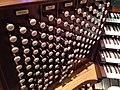 First Baptist DC Austin Organ Console Stops, 2013-11-04.jpg