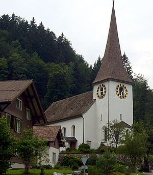 Religion in Switzerland - A church in Fischenthal, a village in the canton of Zurich