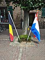Flags Outside Tourist Information Centre in Baarle.jpg