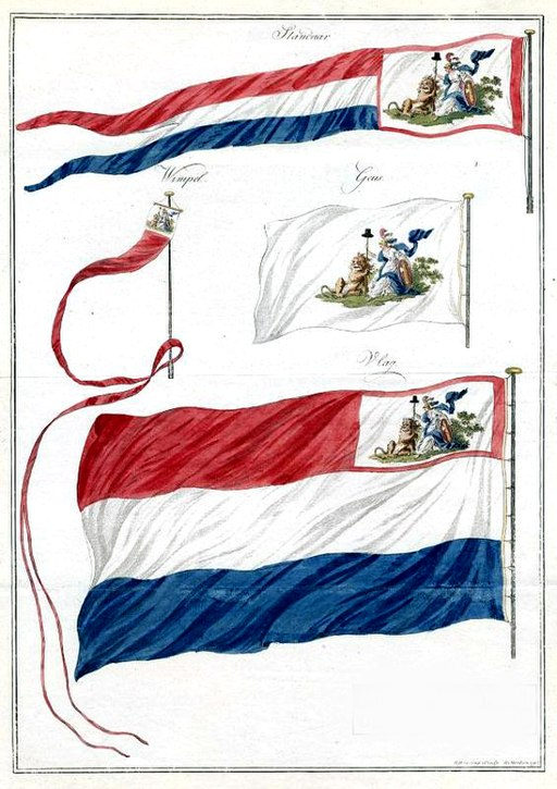 Flags of the navy of the Batavian Republic