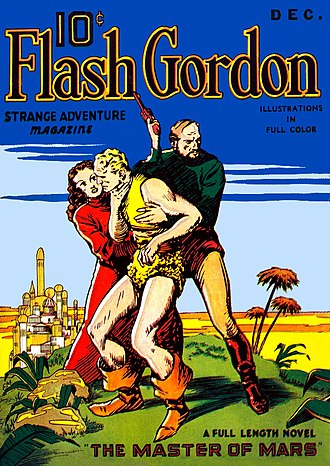 Flash Gordon - Cover of the December 1936 issue of Flash Gordon Strange Adventures