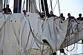 Flickr - Official U.S. Navy Imagery - Sailors practice furling the main topsail aboard USS Constitution..jpg