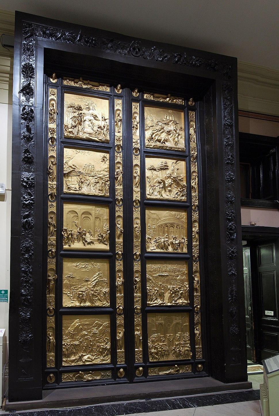 Florence Baptistery Door Copy - Harris Museum
