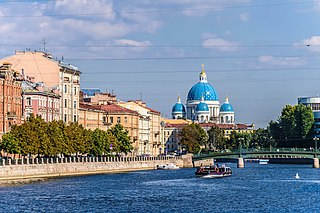 Fontanka River left branch of the river Neva in Saint Petersburg, Russia