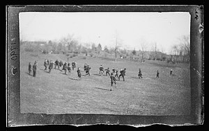 Fort Greene, Brooklyn - Football at Fort Greene, circa 1872-1887