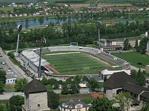 2000 UEFA European Under-21 Championship - Image: Football stadium in Trenčín, Slovakia