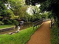 Footbridge along the Towpath, Woolhampton - geograph.org.uk - 37070.jpg