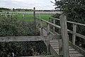 Footbridge over Gog Brook, alongside St Mary's Lands - geograph.org.uk - 1517534.jpg