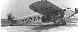 Henry Ford - Ford 4-AT-F (EC-RRA) of the Spanish Republican Airline, L.A.P.E.