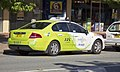 Ford FG Falcon running on LPG, operated by Canberra Elite Taxi, photographed in Tuggeranong Town Centre.jpg