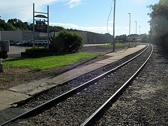 Willimantic, Connecticut - Former Amtrak platform in downtown Willimantic