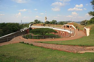 Pretoria Forts - Image: Fort Schanskop Top View