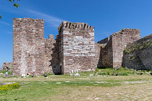 Ottoman conquest of Lesbos - Towers of the Castle of Mytilene