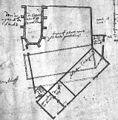 Foto van tekening plattegrond kapel bij kerk - Maastricht - 20146015 - RCE (detail).jpg