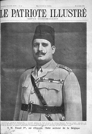 Fuad I of Egypt - King Fuad I in Belgium