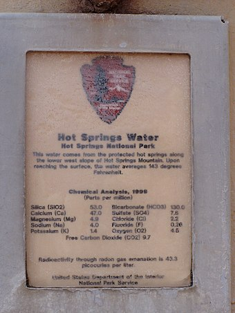 Water composition sign Fountain - water content P6220196.jpg