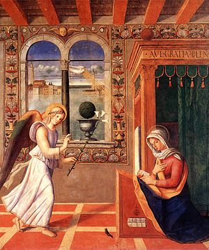 Francesco di Simone da Santacroce - Annuciation (1504), Pinacoteca Carrara, Bergamo.