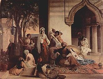 La nuova preferita in harem, di Francesco Hayez (Milano, 1866)