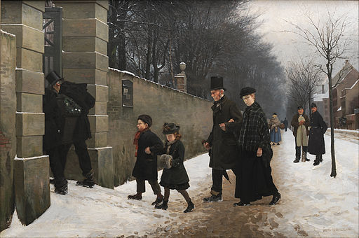 Frants Henningsen - A Funeral - Google Art Project