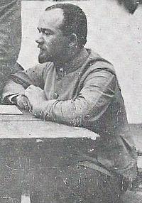 Хорунжий Франц Свістель; на постою УСС за Збручем 1917-го