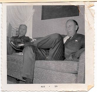 Fred Gipson - Fred Gipson visiting family in Sand Springs Oklahoma in 1959
