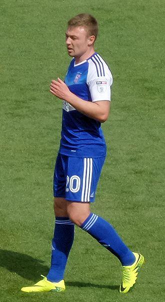 Freddie Sears - Freddie Sears playing for Ipswich Town in August 2016.