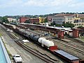 Freight cars at Springfield Union Station, August 2018.JPG