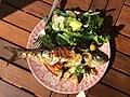 Freshly caught Shad and garden salad.jpg