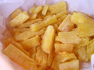 Cassava-based dishes - Fried and salted cassava