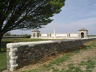 V.C. Corner Australian Cemetery and Memorial cemetery located in Nord, in France