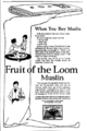 Fruit of the Loom Muslin newspaper ad.png